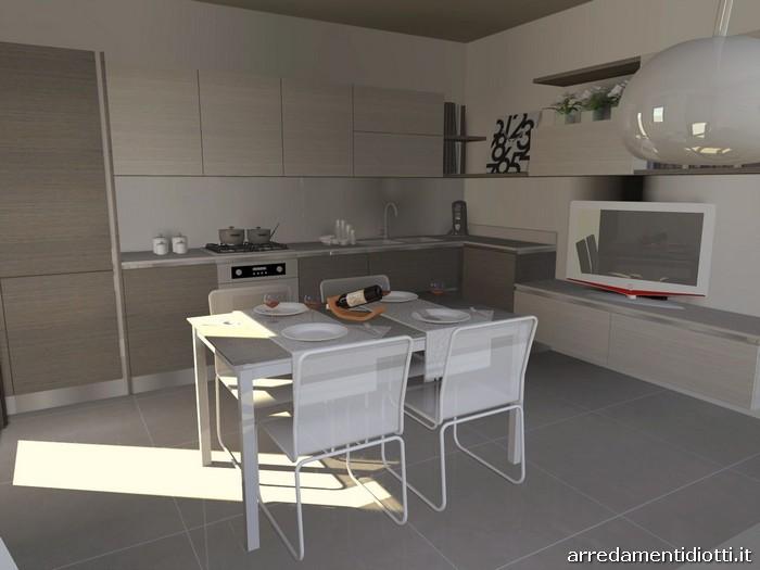 Cucina con soggiorno moderno living Easy13 - DIOTTI A&F Arredamenti