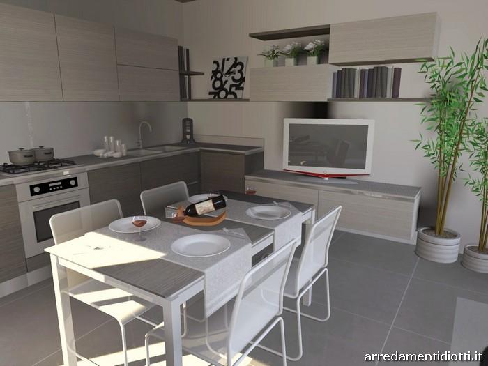 cucina con soggiorno moderno living easy13 - diotti a&f arredamenti - Soggiorno Living Con Cucina A Vista 2