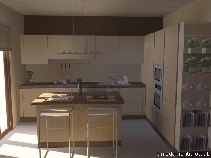 Cucina moderna con isola e living Sfera e Side System - DIOTTI A&F ...