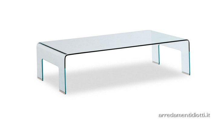 Tavolino Real nella versione trasparente