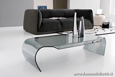 Tavolini vetro curvato diotti a f arredamenti - Calligaris porta tv ...
