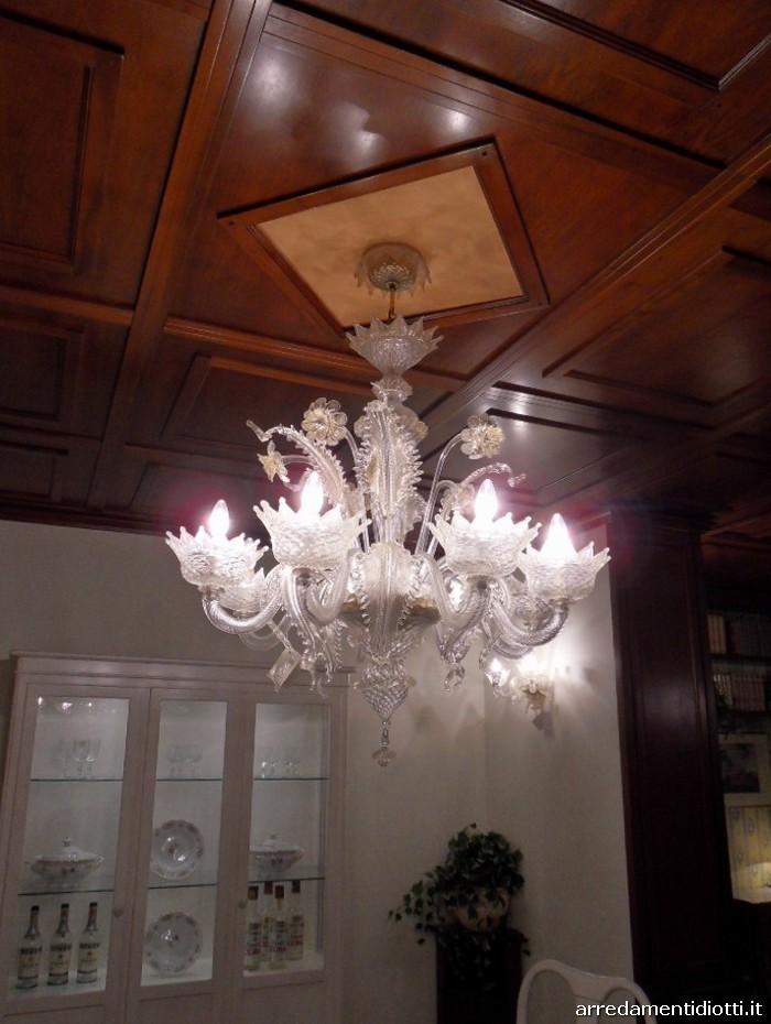Lampadario in vetro in Stile veneziano - DIOTTI A&F Arredamenti