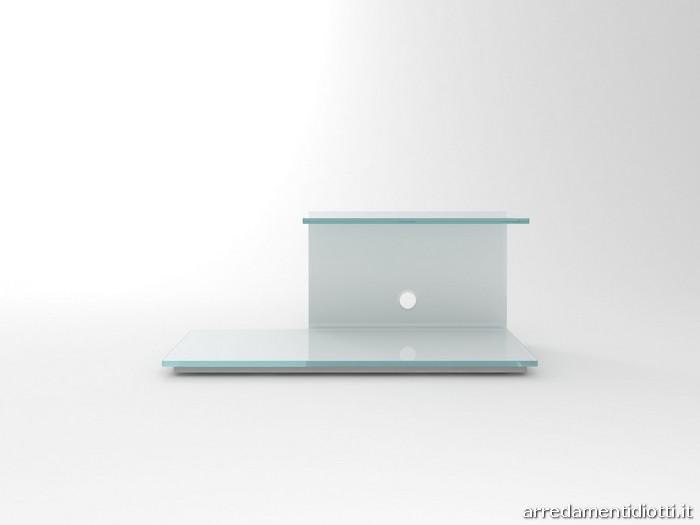 Porta tv svt117 in vetro curvato diotti a f arredamenti - Mobili porta tv in vetro ...