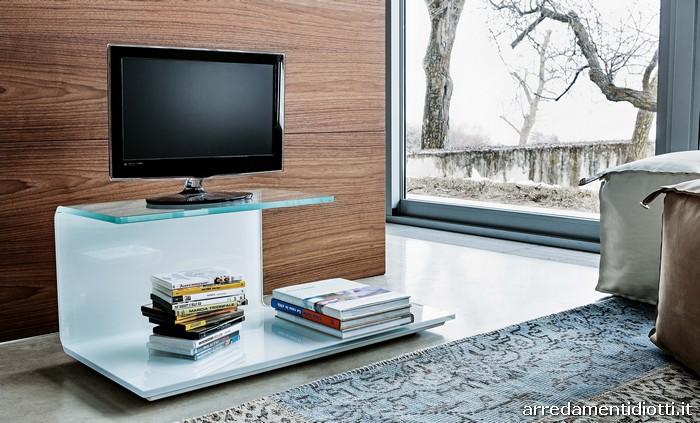 Porta Tv Svt117 In Vetro Curvato Diotti A Amp F Arredamenti Pictures ...