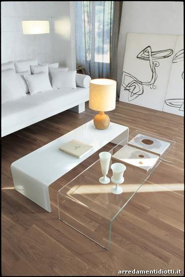 tavolino SVT60 in vetro curvato - DIOTTI A&F Arredamenti