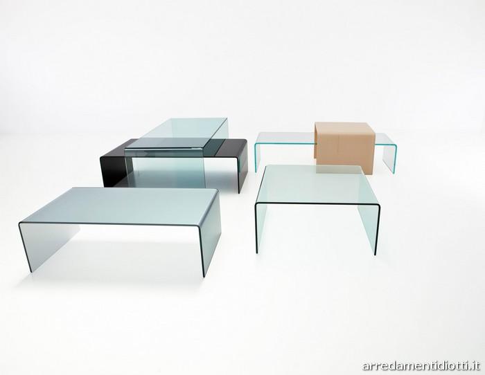 Tavolino svt54 in vetro curvato diotti a f arredamenti - Mobili porta tv in vetro ...