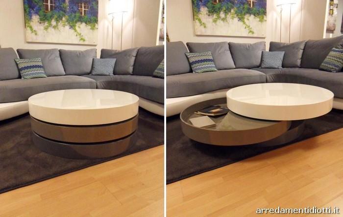 Tavolino girevole laccato robin tavolino da salotto suri for Tavolino salotto bianco laccato