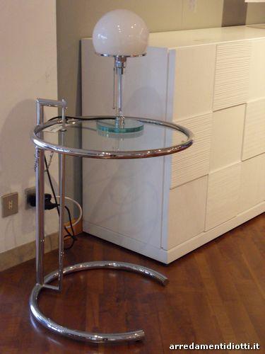 Tavolino Cromato Regolabile Eileen Gray : Eileen gray diotti a f arredamenti