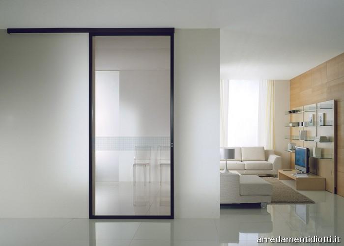 Porte scorrevoli in alluminio xila diotti a f arredamenti - Porta scorrevole vetro offerta ...