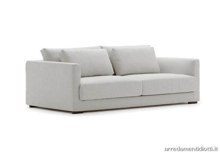 Divano norman con doppi cuscini di schienale diotti a f arredamenti - Cuscini seduta divano ...