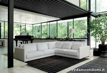 Divano roman con doppi cuscini di schienale diotti a f arredamenti - Cuscini schienale divano ...