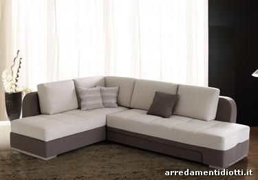 divano letto musa modern trasformabile con contenitore - diotti ... - Divano Letto Matrimoniale Angolare