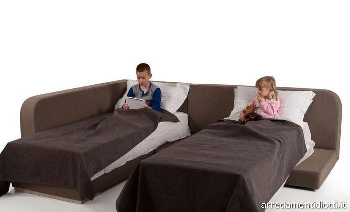 Divano letto musa modern trasformabile con contenitore diotti a f arredamenti - Divano letto singolo con contenitore ...