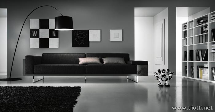Soggiorno divano grigio idee per il design della casa for Arredamento soggiorni e salotti