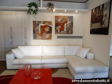 Tokyo white leather sofa