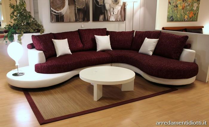Divano curvo design latest round top grano divano in pelle moda creativa soggiorno divano di - Divano curvo design ...