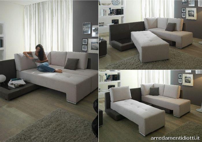 Letto nellangolo design casa creativa e mobili ispiratori - Divano letto studio ...