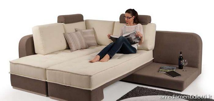 divano musa letto angolare con contenitore - diotti a&f arredamenti - Divano Letto Matrimoniale Angolare