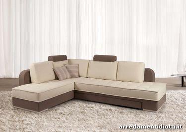 Divano musa letto angolare con contenitore diotti a f arredamenti - Divano letto 160 cm mondo convenienza ...