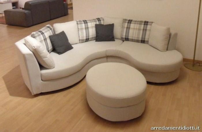 Divano angolare curvo componibile texas diotti a f arredamenti - Un divano per dodici ...