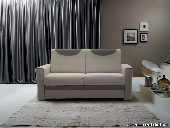 Divano letto verdi con materasso cm diotti a f arredamenti - Schienale divano letto ...