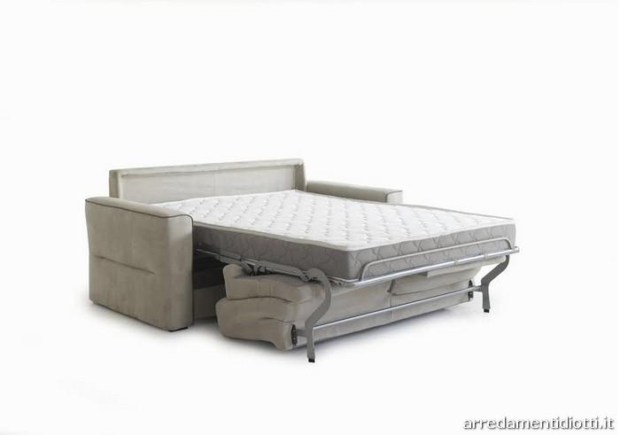 Divano letto verdi con materasso cm diotti a f arredamenti - Divano letto con materasso alto 20 cm ...