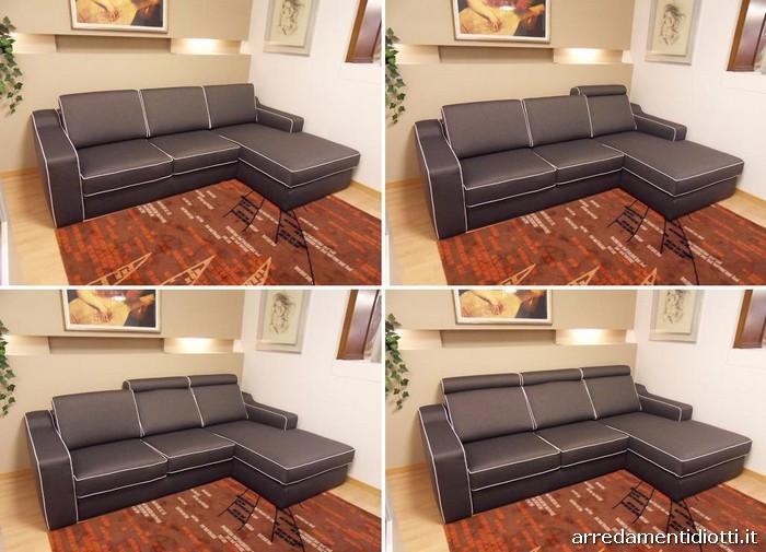 Divano con schienale che si reclina con un semplice - Posizione divano e tv ...