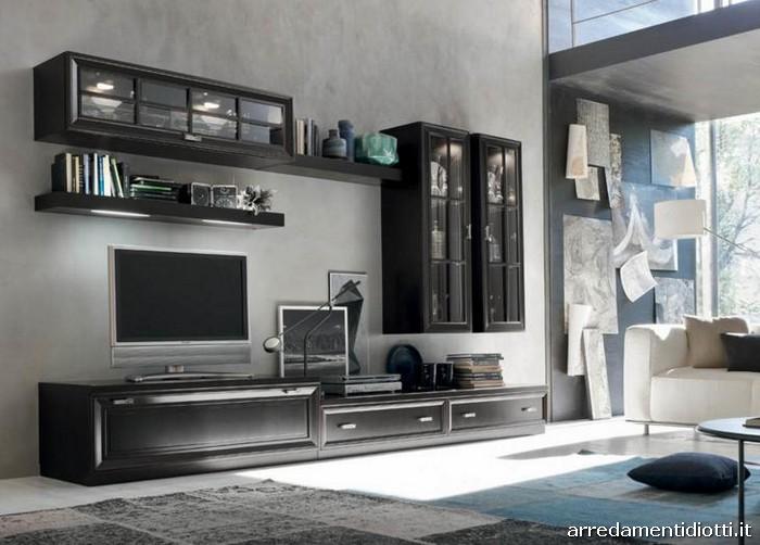 soggiorno classico bassano - diotti a&f arredamenti - Mobili Soggiorno Bianco E Nero 2