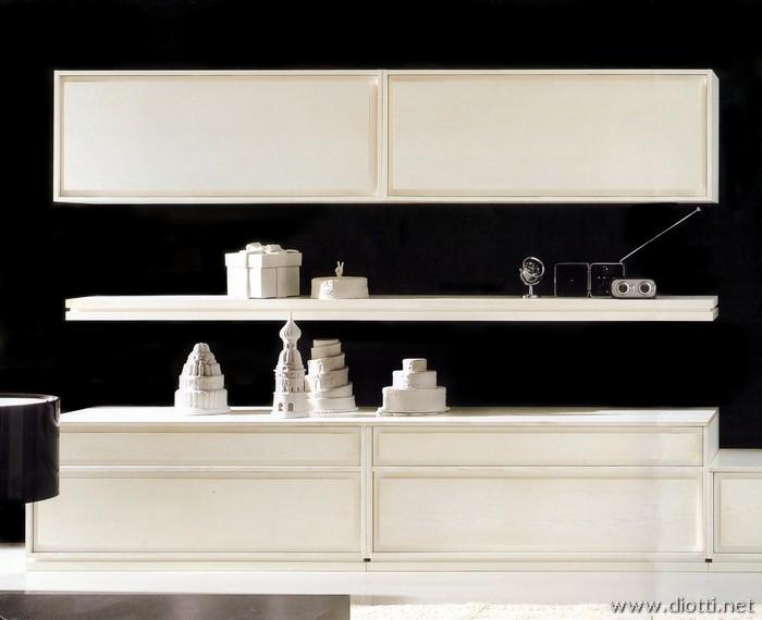 Soggiorno disegno Classico : Soggiorno Classico In Noce: Vista laterale soggiorno classico noce.