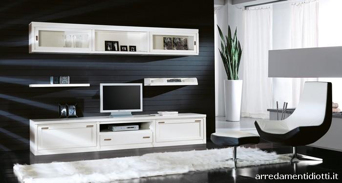 soggiorno classico bianco populair