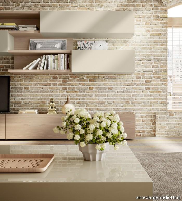 Nel soggiorno il legno diventa un elemento flessibile - Colori mobili legno ...