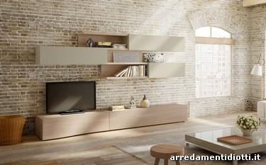 Nel soggiorno il legno diventa un elemento flessibile, capace di ...