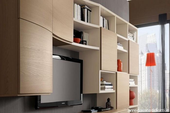 Nel soggiorno il legno diventa un elemento flessibile for Mobili soggiorno moderni in legno