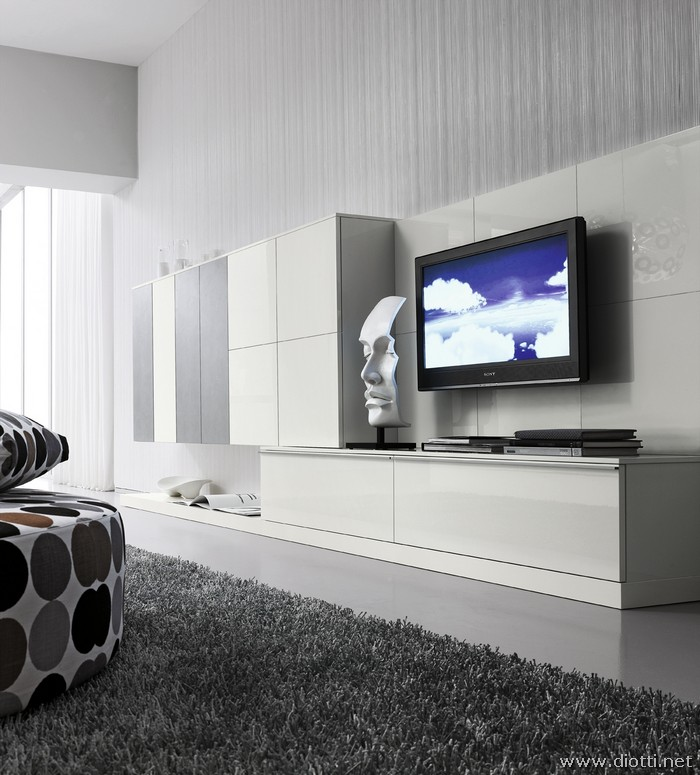 Day white silver modern wallsystem FS30 design
