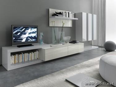 Collezione Day con pareti attrezzate moderne bianche - DIOTTI A&F ...