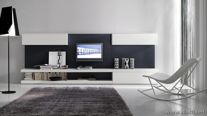 Day collection grey and white living room furniture - DIOTTI A&F Italian Furniture and Interior ...