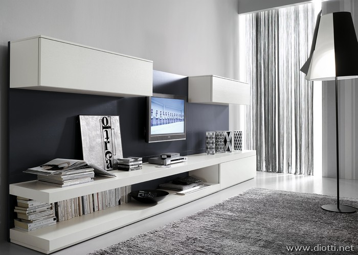 Day soggiorno FS32 bianco grigio bis