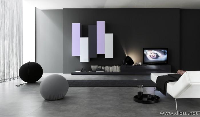 Pensili verticali soggiorno u idea d immagine di decorazione