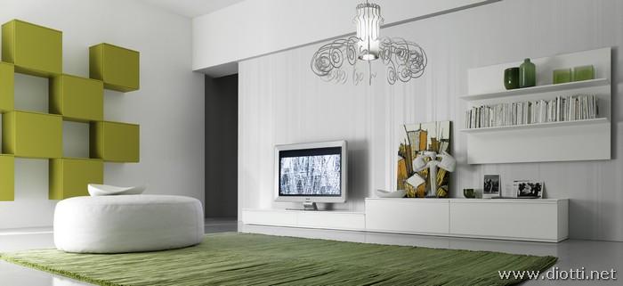 Soggiorno Moderno Bianco Interior Design