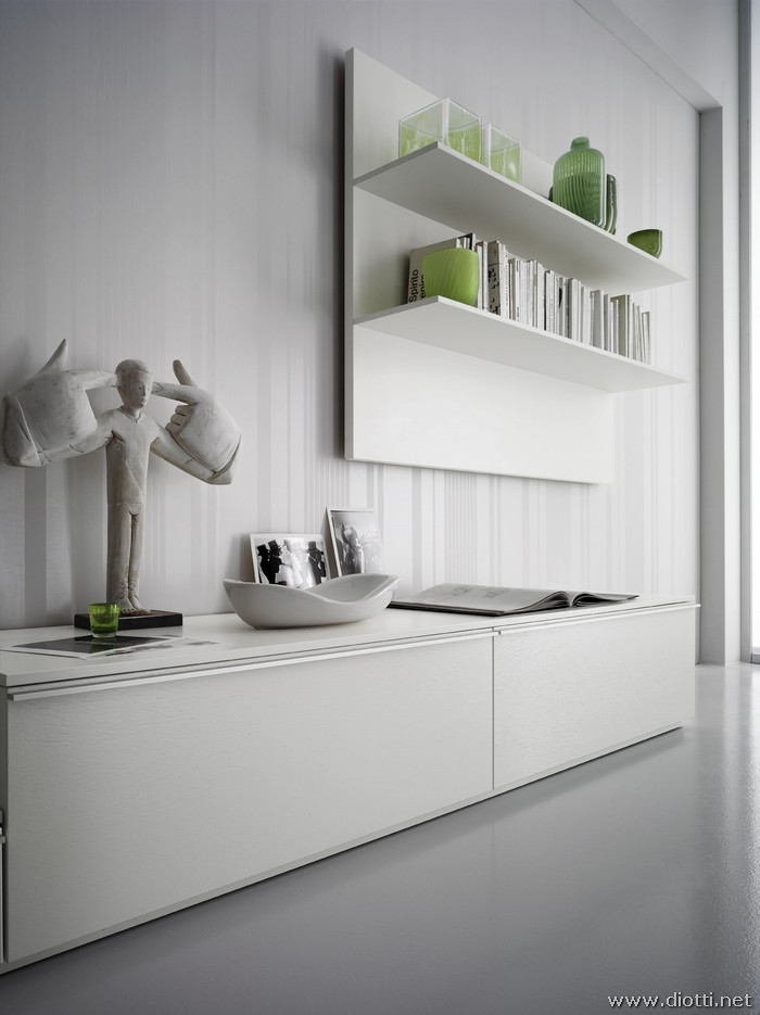 white and green day wall system diotti a f italian