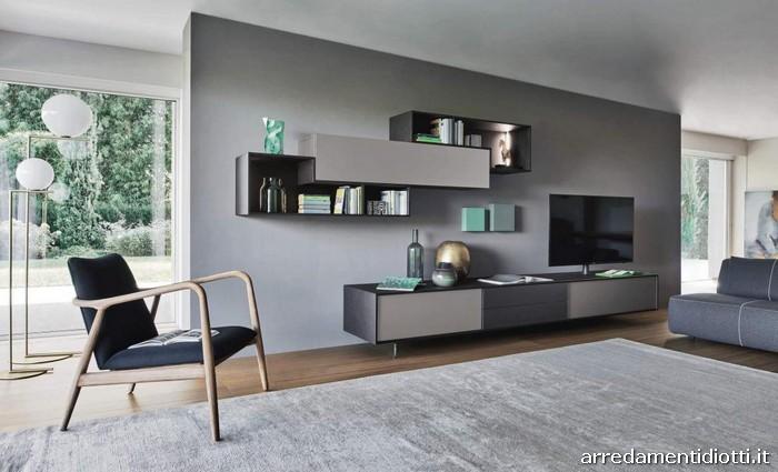 Composizione soggiorno Lampo New con elementi Tetris - DIOTTI A&F ...
