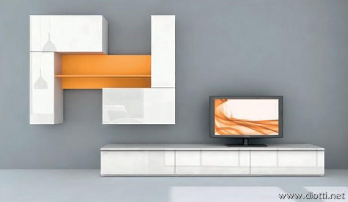 Day: giocare con forme e colori con i mobili soggiorno   diotti ...