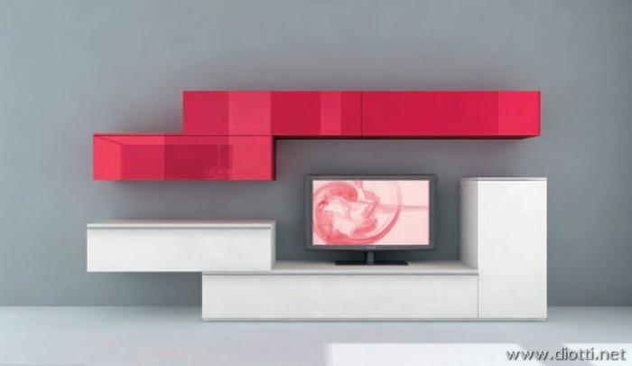 Day giocare con forme e colori con i mobili soggiorno for Colori mobili moderni