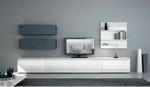 , completamente bianche o con particolari grigi: mobili soggiorno ...