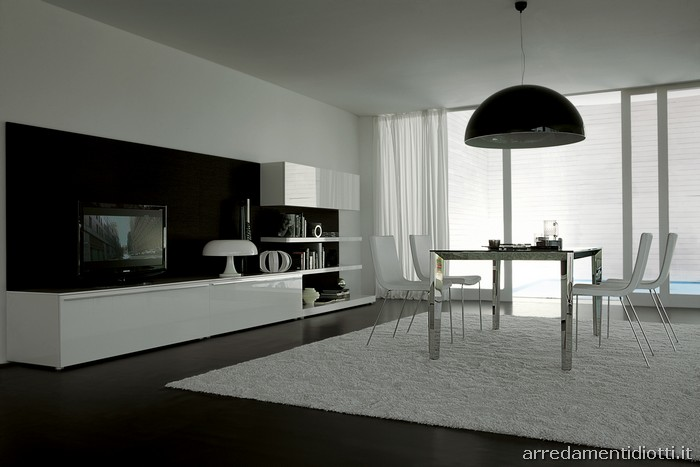 Lampo - Bianco e/o Nero - DIOTTI A&F Italian Furniture and Interior ...