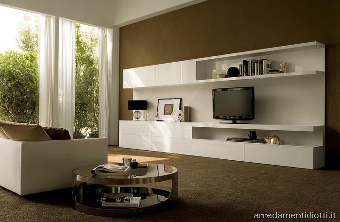 Le composizioni proposte nelle finiture laccato bianco e o for Ikea soggiorni