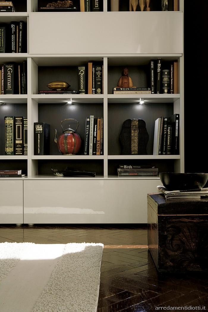 Librerie laccate diotti a f arredamenti for Diotti arredamenti