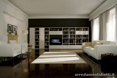 Librerie laccate - DIOTTI A&F Arredamenti
