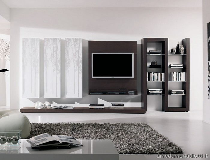 Beautiful Parete Tv Soggiorno Gallery - Design Trends 2017 ...