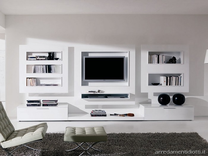 Emejing parete tv soggiorno ideas design and ideas novosibirsk us